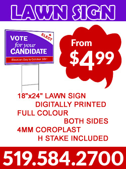 Electra Colour Kitchener Printing Lawn Signs